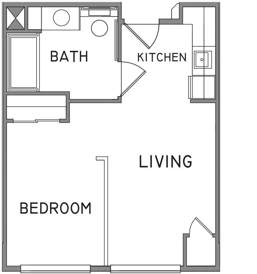 Studio apartment floor plans 480 sq ft best 25 studio for Plan apartment
